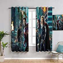 ZhiHdecor The Avengers Pattern curtains Captain