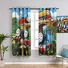 ZhiHdecor Thomas the little train Bedroom Curtain