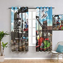 ZhiHdecor Thomas the little train Pattern curtains