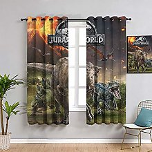 ZhiHdecor Window Blackout Curtains Jurassic