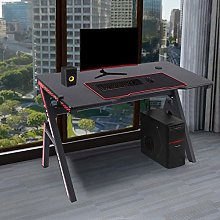 ZHIJIE Black Gaming Table With Headphone Hook,