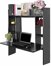 ZHIJIE Black Hanging Desk Work Station,Designed