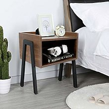 ZHIJIE White Bedside Tables Cabinet Night Stand