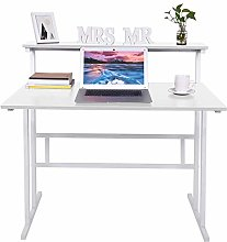 ZHIJIE White Ladder Desk Computer Laptop Office