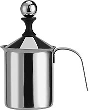 ZHIRCEKE Milk Frother-800ml Stainless Steel Manual