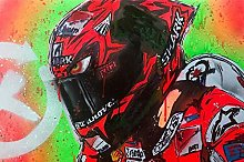 zhizunbao Color oil painting poster motorcycle