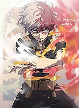 zhizunbao Nordic Style Canvas Painting Print Anime