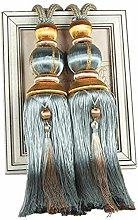 ZHMF 1 Pair Curtain Tiebacks Holdbacks Clip