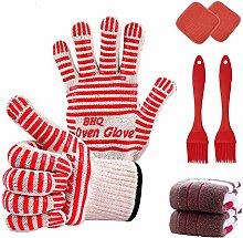 Zhongsheng Kitchen Oven Gloves and 2 Pot Holders,2
