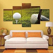ZHONGZHONG 5 Panel Wall Art Golf Sport Golf Club