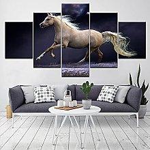 ZHONGZHONG 5 Panel Wall Art Pictures Animal