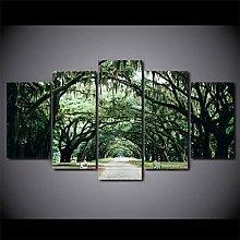 ZHONGZHONG 5 Panel Wall Art Pictures Tropical
