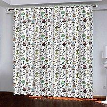 Zhoudd Blackout Curtains Cartoon Wall