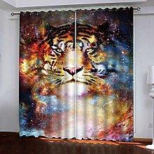 Zhoudd Blackout Curtains Creative Star Tiger