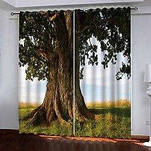 Zhoudd Blackout Curtains Natural Landscape Tree