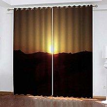 Zhoudd Blackout Curtains Natural Scenery