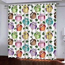 Zhoudd Kids Blackout Curtains Cartoon Animal Owl