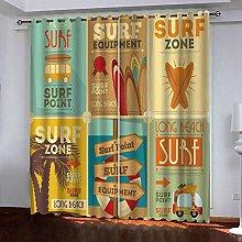 Zhoudd Print Blackout Curtains Surfing Ads