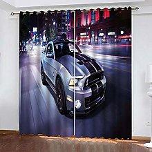 Zhoudd Print Blackout Curtains Urban Car