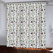 Zhoudd Ultra Soft Curtains Cartoon Wall