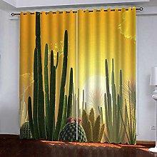 Zhoudd Ultra Soft Curtains Desert Sunflower