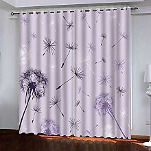 Zhoudd Ultra Soft Curtains Light Purple Dandelion