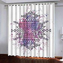 Zhoudd Ultra Soft Curtains White Modern Pattern