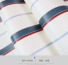 ZHOUKEYU Cartoon Plain Stripe Wallpaper Bedroom