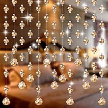 ZHOUXIAO Gold Crystal Beaded Curtain for