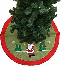 zhppac Red Christmas Tree Skirts Flaxen Tree