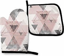 ZHSL Oven Mitt and Potholder, Abstract Geo In