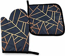 ZHSL Oven Mitt and Potholder, Copper And Midnight