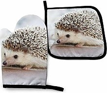 ZHSL Oven Mitt and Potholder, Cute Hedgehog Oven