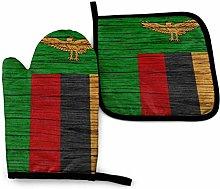ZHSL Zambia Wooden Texture Zambian Flag Novelty 2