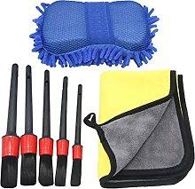 ZHUQIANG 7 Pcs/set Car Cleaning Kit Detail Brush
