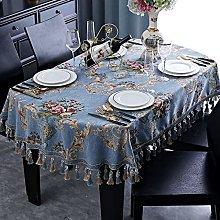 Zhushj'shop European Retro Tassel Tablecloth