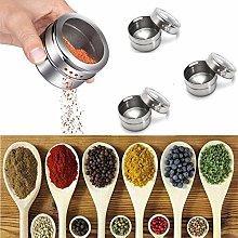 zhuyu 3pcs Magnetic Spice Sauce Salt Pepper