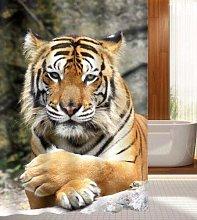 ZHWL6688 Beautiful Tiger Shower Curtain Bathroom
