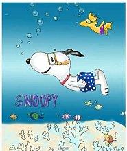 ZHWL6688 Cartoon Snoopy-Bathroom Fabric Shower