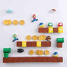 ZHYHAM 63pcs 3D Super Mario Bros. Fridge Magnets