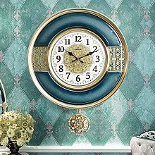 ZHYLing American Wall Clock Living Room Atmosphere