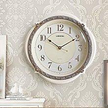 ZHYLing European Minimalist Wall Clock Living Room
