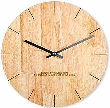ZHYLing Simple Modern Log Creative Wall Clock
