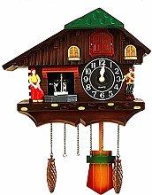 ZHYLOVE Wall Clock Wood Cuckoo Bird Clocks Home