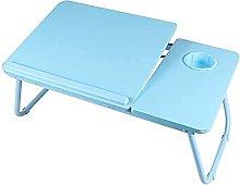 ZHZHUANG 1Pc Folding Computer Desk 4 Levels
