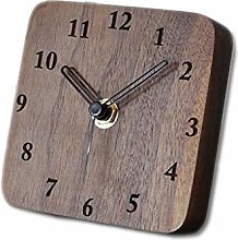 ZHZHUANG Desk Clock Silent Square Table Clock