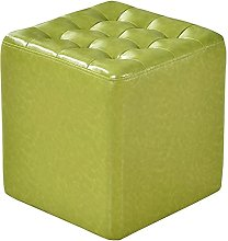 ZHZHUANG Faux Leather Waterproof Small Footstool