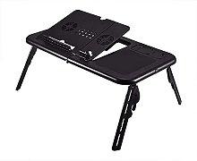ZHZHUANG Folding Laptop Desk Adjustable Computer