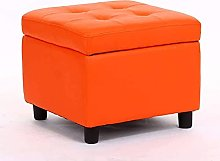ZHZHUANG Foot Stool,Small Leather Stool Modern