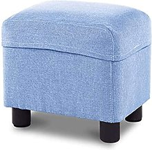 ZHZHUANG Foot Stool/Square Linen Fabric Sofa